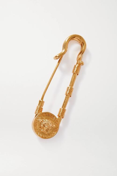 Versace - Broche dorée