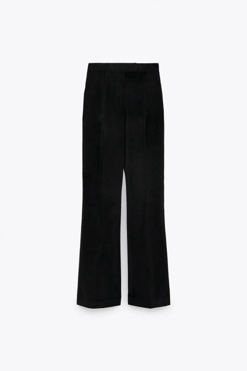 Zara - Pantalon bootcut en velours