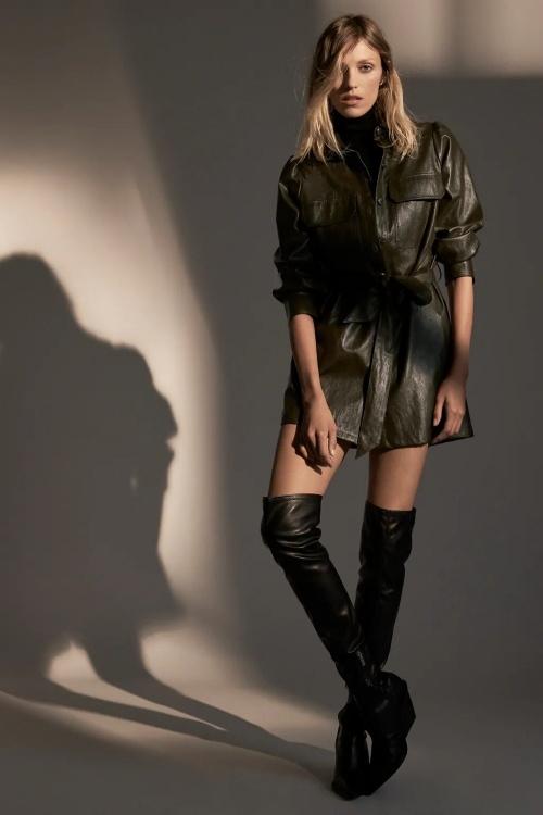 Zara - Robe courte similicuir