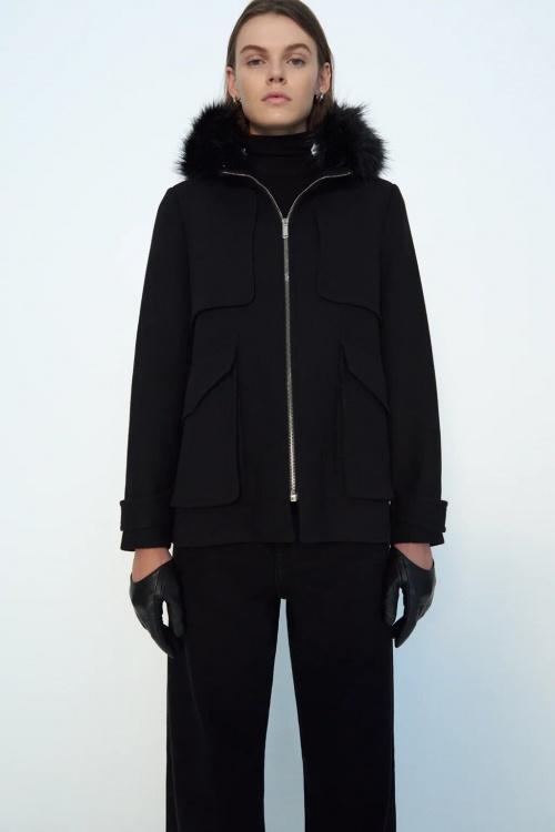 Zara - Manteau à capuche