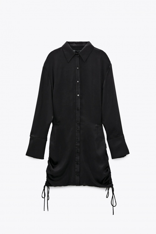 Zara - Robe satinée et drapée