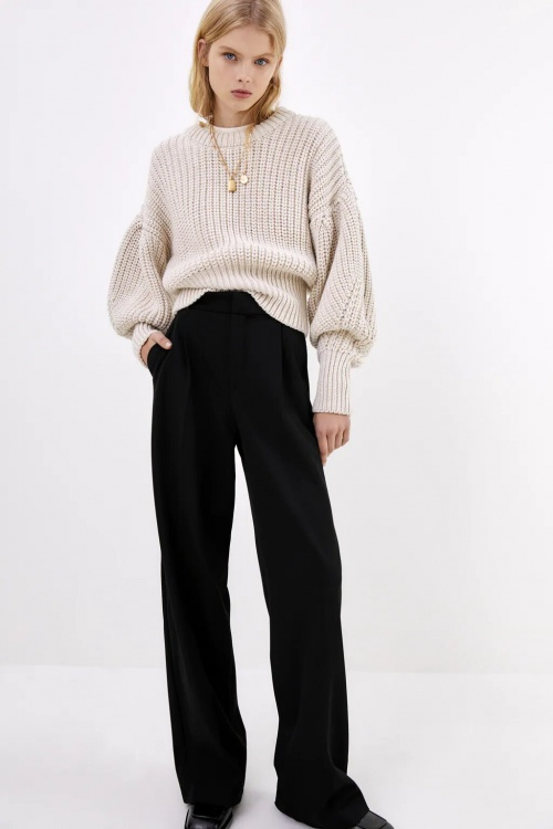 Zara - Pantalon large à plis