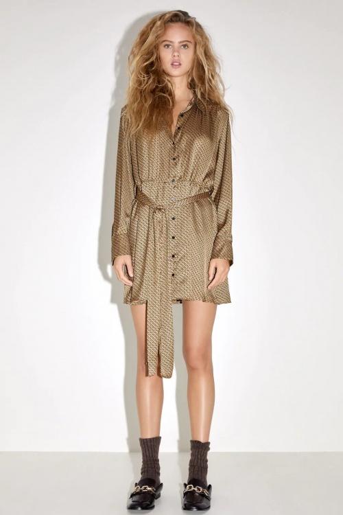 Zara - Robe à imprimé géométrique
