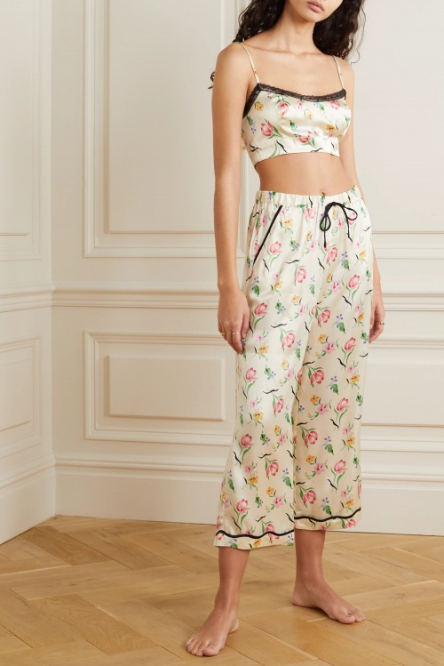 Morgan Lane - Pyjama en satin de soie