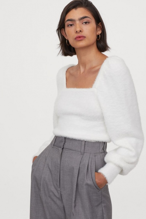 H&M - Pull à manches bouffantes