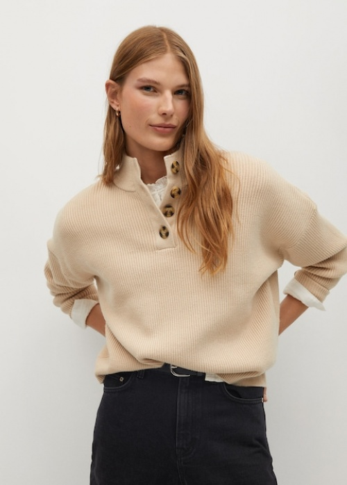 Mango - Pull-over maille détail boutons