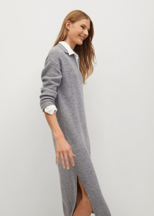 Mango - Robe chemiser maille
