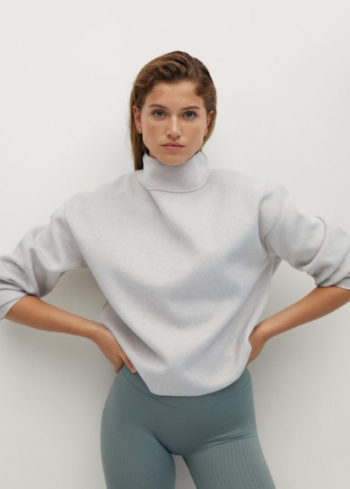 Mango - Sweat-shirt col montant