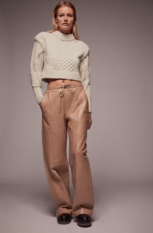 Zara - Pull en maille à épaulettes