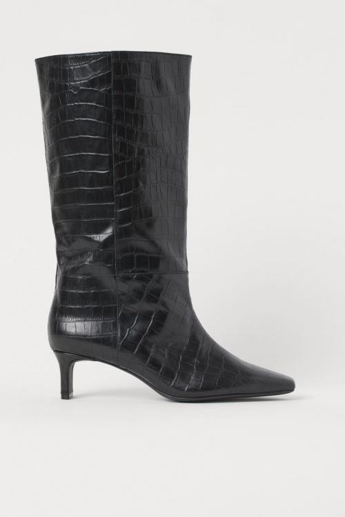 H&M - Bottes montantes en cuir