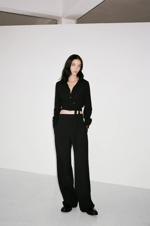 Zara - Pantalon à jambes larges