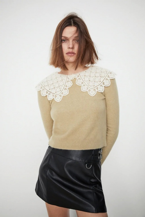 Zara - Pull en maille bimatière