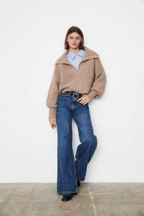 Zara - Pull en maille court
