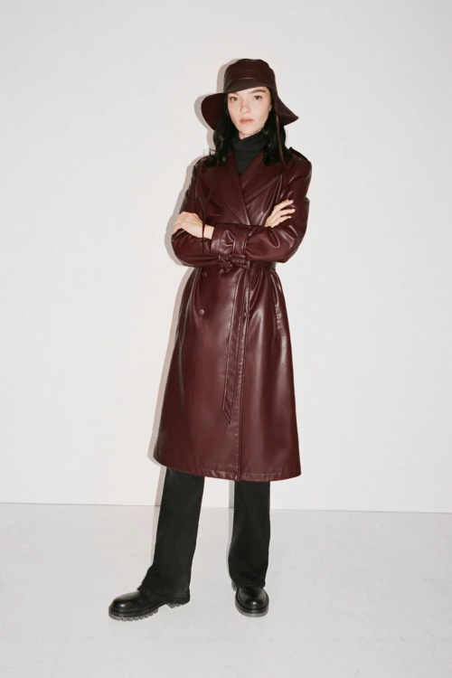 Zara - Trench en similicuir