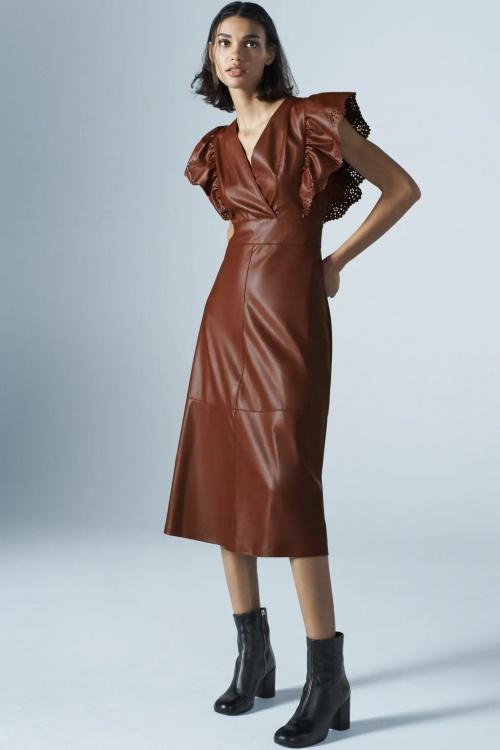 Zara - Robe en similicuir