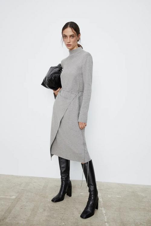 Zara - Robe avec jupe paréo