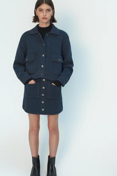 Zara - Mini jupe en maille