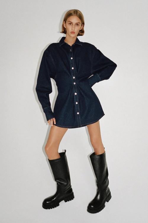 Zara - Robe courte en jean