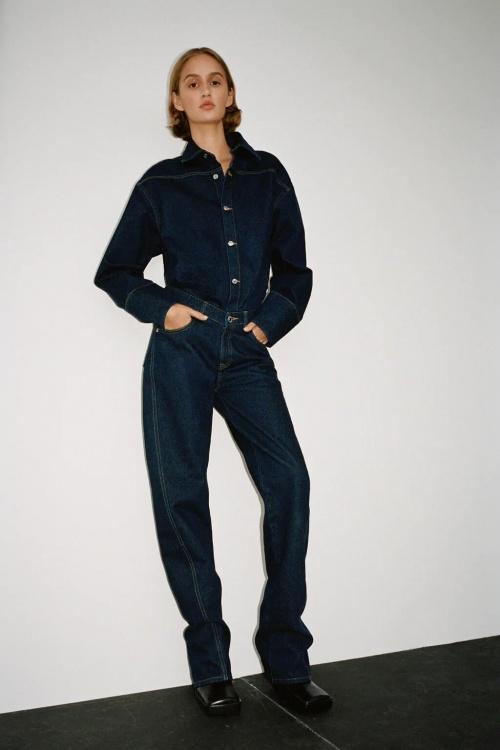 Zara - Combinaison longue en jean