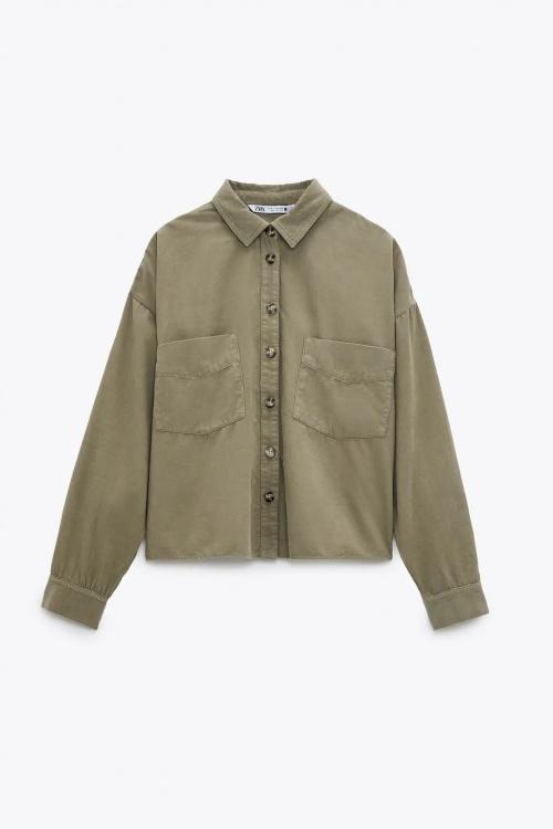 Zara - Chemise courte en velours