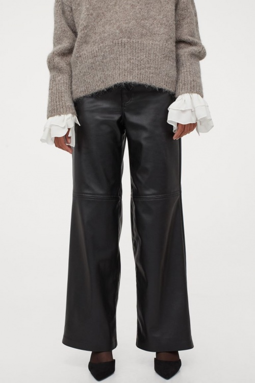 H&M - Pantalon similicuir