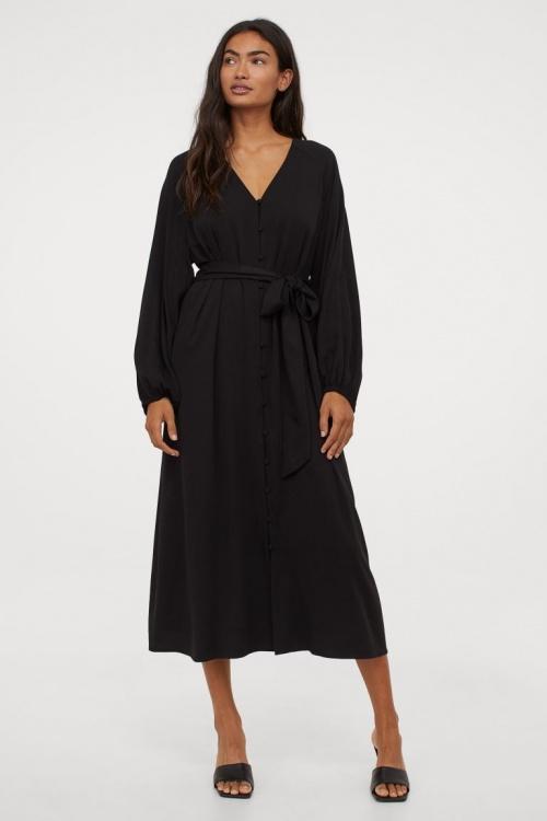 H&M - Robe avec ceinture à nouer
