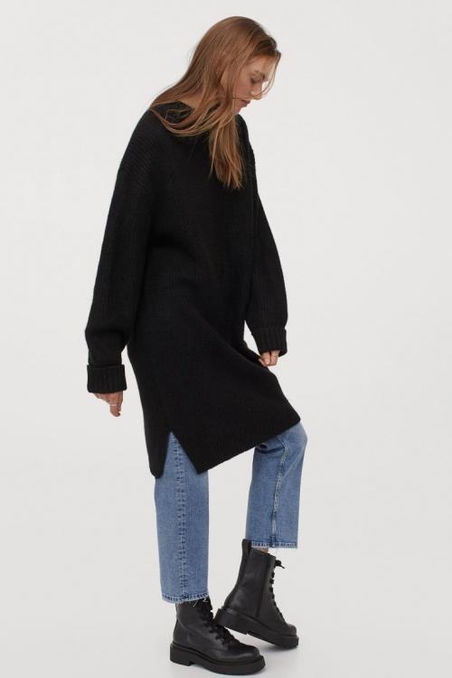 H&M - Robe en maille côtelée