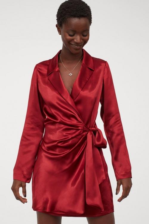 H&M - Robe blazer en satin