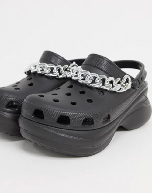 Crocs - Crocs à plateforme avec chaîne
