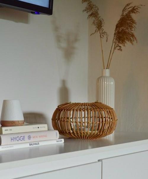 Dille & Kamille - Lanterne en rotin