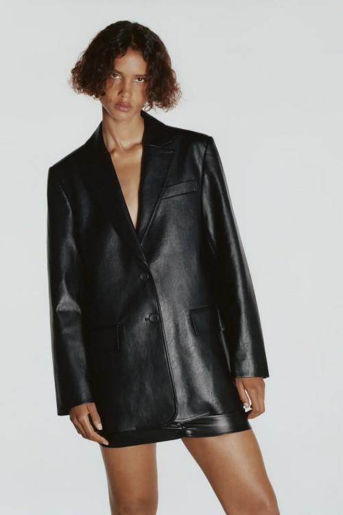 Zara - Blazer oversize similicuir