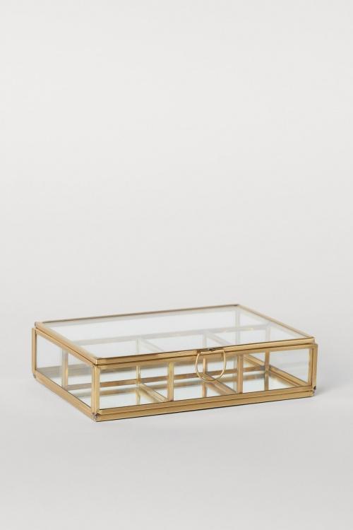 H&M Home - Boîte à bijoux en verre