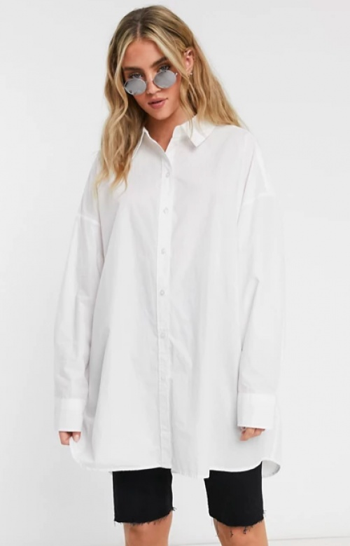 Weekday - Chemise blanche oversize