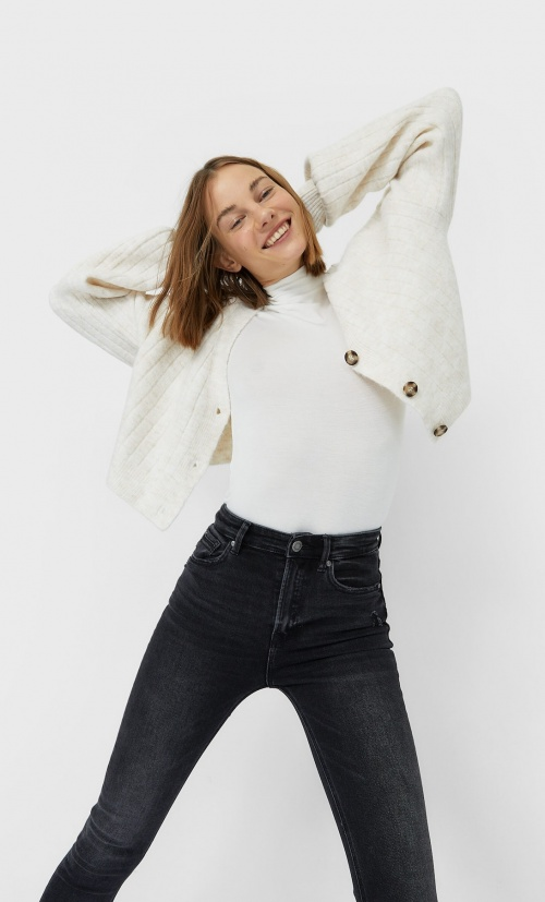 Stradivarius - Cardigan cropped
