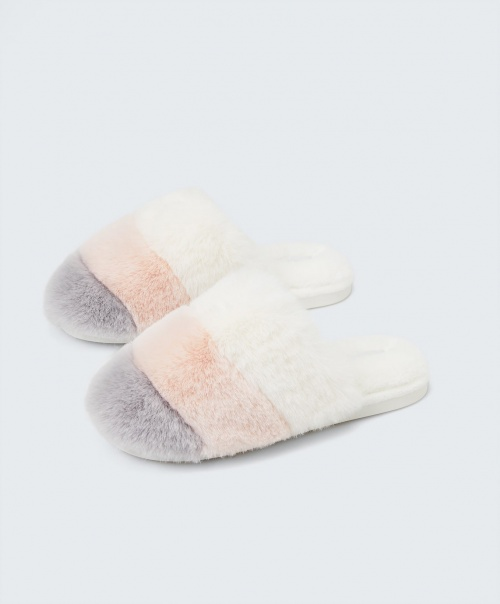 Oysho - Chaussons tricolores