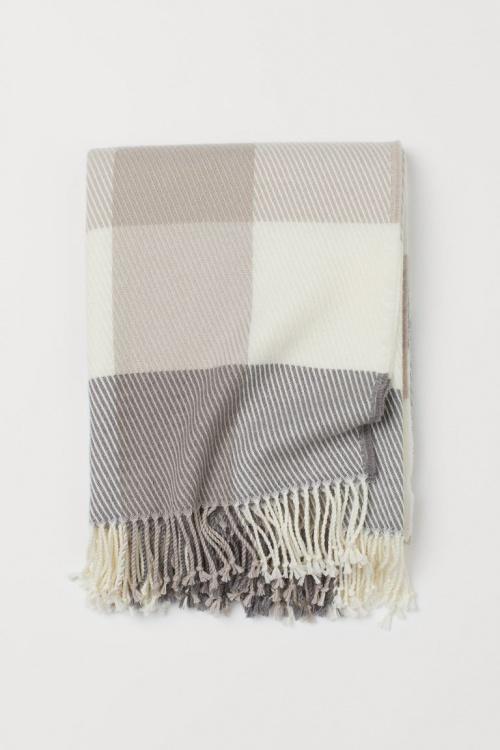 H&M Home - Plaid en laine mélangée
