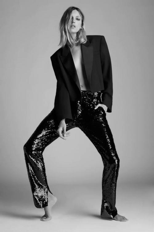 Zara - Pantalon à pailettes
