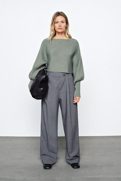 Zara - Pull en maille à manches amples