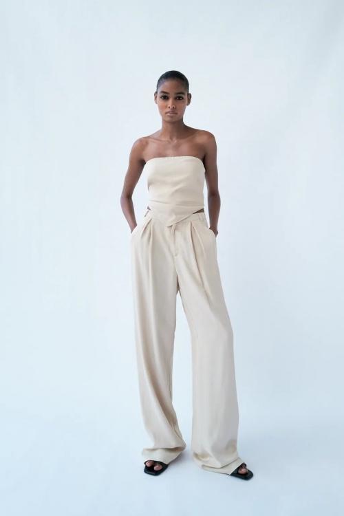 Zara - Pantalon jambes larges