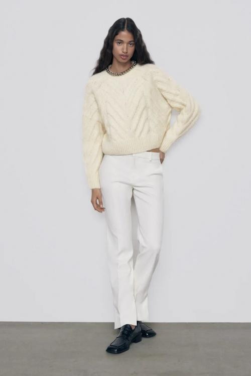 Zara - Pull laine avec chaînes