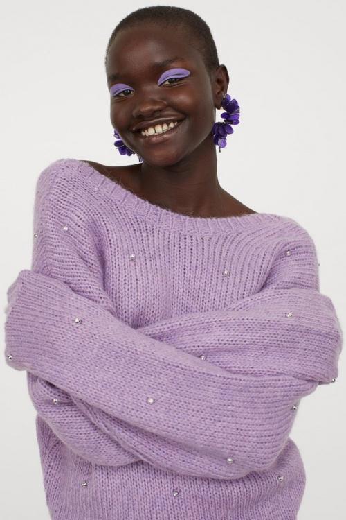 H&M - Pull avec perles