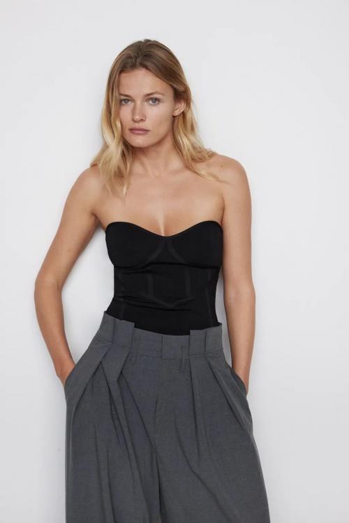 Zara - Bustier en maille
