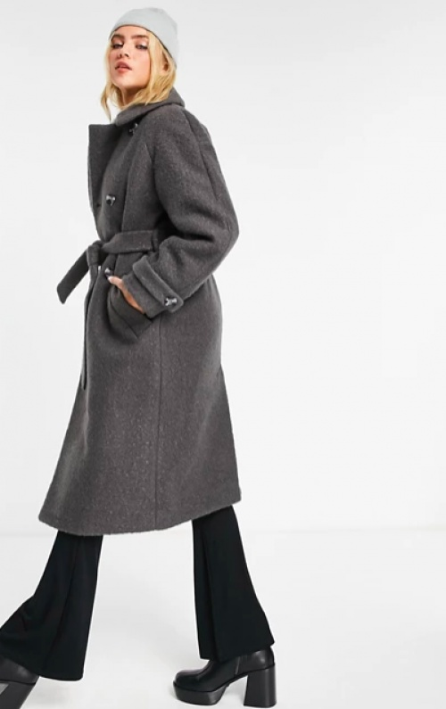 Topshop - Manteau en maille bouclée