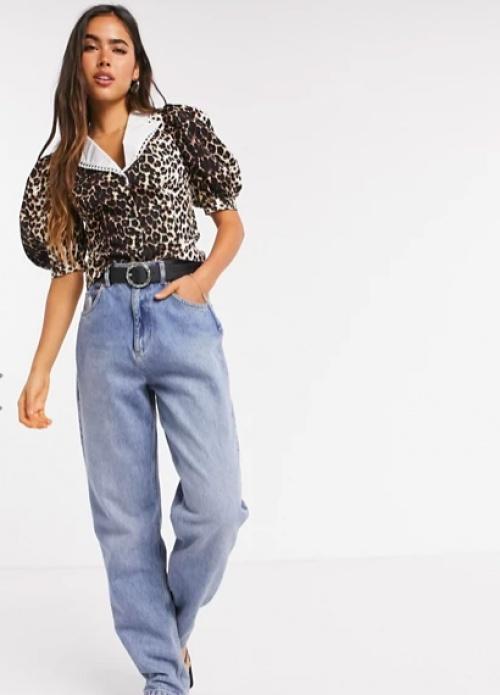 Asos DESIGN - Blouse léopard