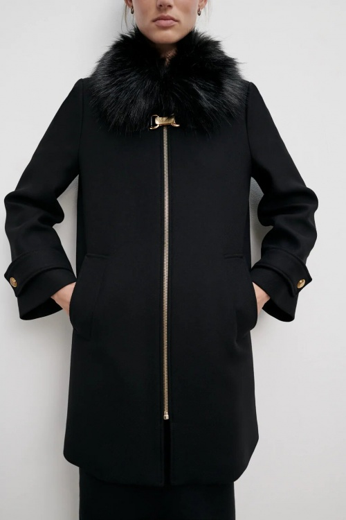 Zara - Manteau col fourrure