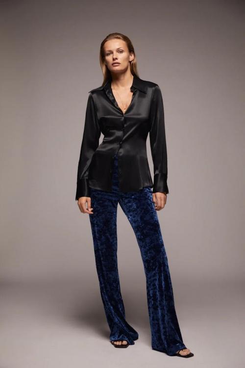 Zara - Pantalon évasé en velours