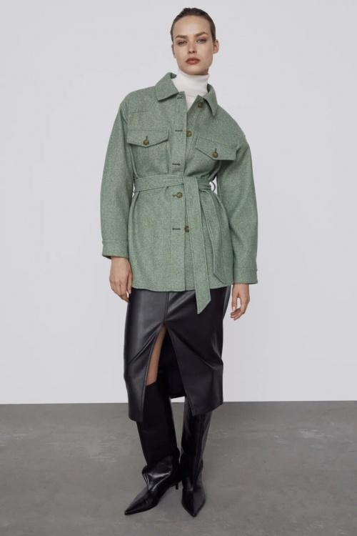 Zara - Surchemise avec ceinture