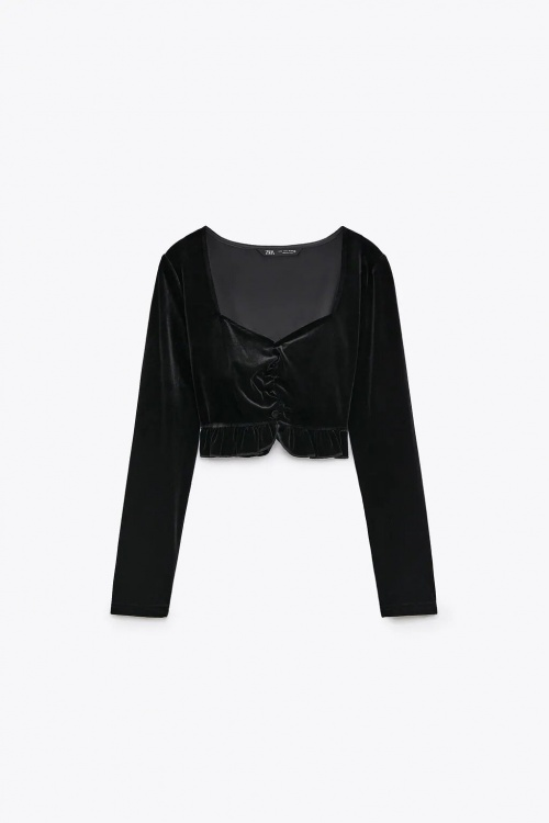 Zara - Top en velours