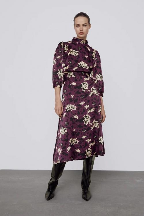Zara - Robe à imprimé fleurie