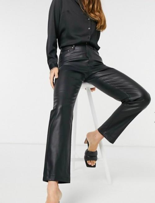 Bershka - Pantalon similicuir